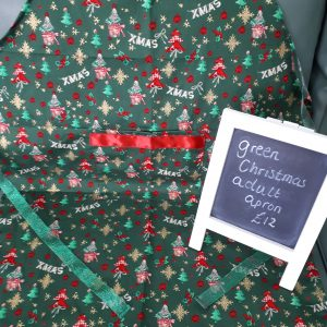 Green christmas apron