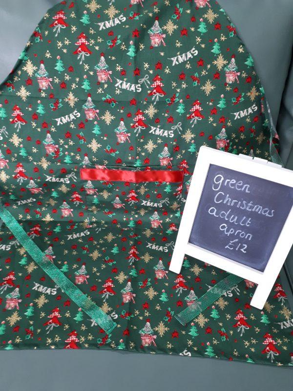 Green christmas apron