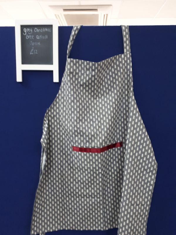 Grey Christmas Tree apron
