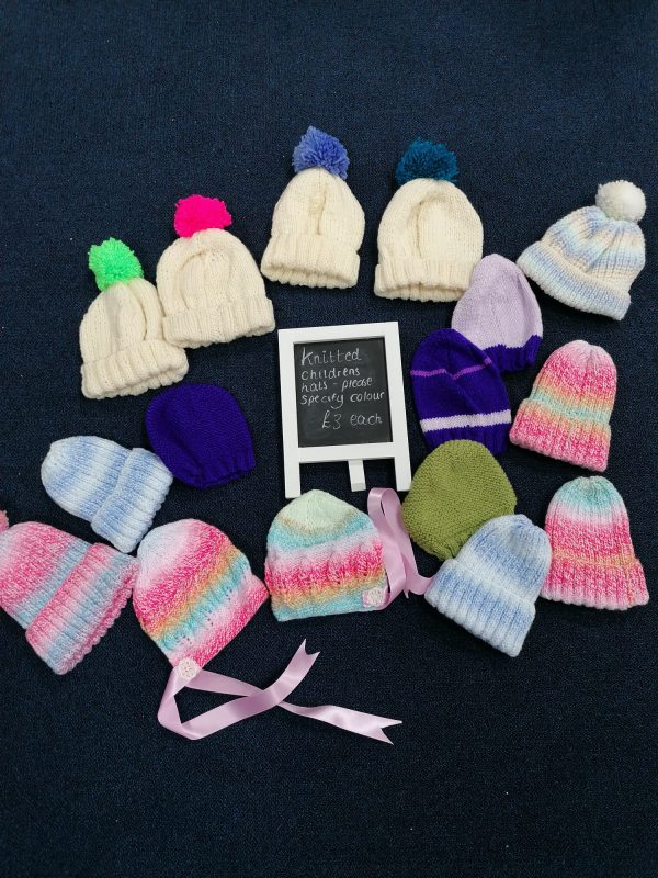 Knitted children's hats